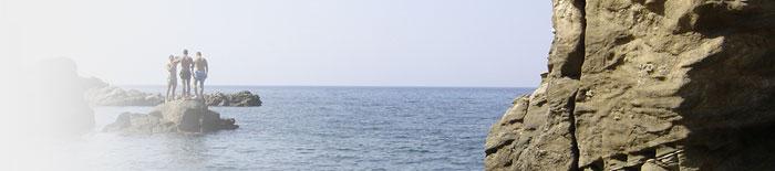 Κολπίσκος τμήμα των δαντελένιων ακτών του νησιού.